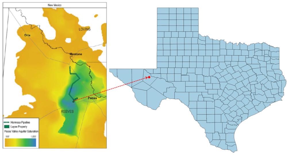 Issue Brief Exhibit_Location of Layne Christensen Pecos Frac Water Asset