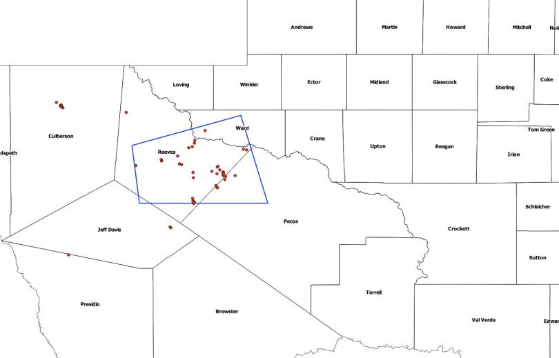 Reeves County Earthquake Risk Zone_2018 thru November